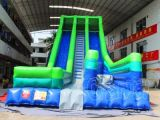 Blue Green Inflatable Slide with Air Bag Jump (CHSL415)