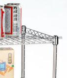 世帯4層のクロムローラーワイヤー棚付けワイヤーカート