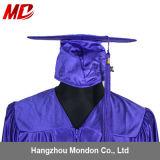 卸し売り高校卒業の式服式帽の光沢がある紫色