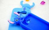 caja del teléfono celular de la puntada de la historieta del silicón 3D para los accesorios móviles del iPhone 6s/6plus (XSD-029)