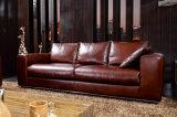 Sofá Home comercial moderno do couro da sala de visitas da mobília (HC3026)