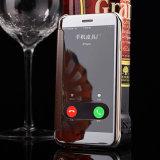 Luxus galvanisiert Kippen-lederner freie Ansicht-Fenster-Spiegel-intelligenten Kasten für iPhone 7