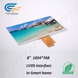 8 moniteur du TFT LCD de la résolution 1024 de pouce TV (RVB) X768