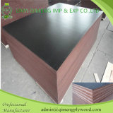 Mais forte e Durable 18mm Waterproof Glue Poplar Core Brown ou Black Color Film Faced Plywood para Construction