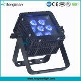 Im Freien wasserdichtes Quadrat LED RGBW 7X10W flaches NENNWERT Licht