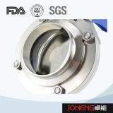 ステンレス鋼の食品等級の手動溶接された蝶弁(JN-BV1001)