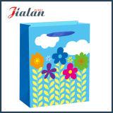лоснистый прокатанный мешок подарка солнцецветов шаржа бумаги искусствоа 128GSM бумажный