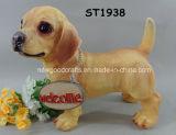 Het Standbeeld van de Hond van de labrador, Multicolored Standbeeld van de Hond van het Puppy