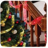 장식적인 크리스마스 나무 집을%s LED 크리스마스 리본 끈 빛