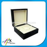 개인화된 호화스러운 나무로 되는 시계 포장 상자 선물 상자