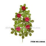 葉が付いている中国の製造者の卸売の人工的な装飾的な花3383-3385