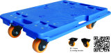 trole plástico azul de Pallect da tartaruga do carro da tartaruga da plataforma 150kgs