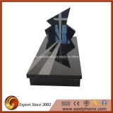 Black Natural European / Russian / American Style Granite / Marble Tombstone / Monument / Headstone avec design personnalisé