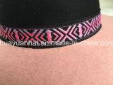 100%のウールのフェルトの冬様式の対照カラージャカード織り方バンドJacquareデザインウールの帽子