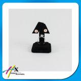Support de boucle d'oreille d'étalage de boucle d'oreille en métal de vente directe d'usine avec la couverture noire de velours