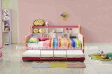 Diseño moderno de dibujos animados de alta calidad lavable niños princesa cama de tela (HCB012)