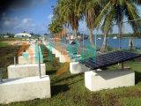 Picovolte solaire montant le bloc Système-Concret