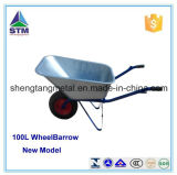 Galvernized oder Coating Metal Tray Wheelbarrow mit Pneumatic oder Solid Wheel