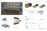 現代設計事務所の机のオフィス用家具(HY5010)