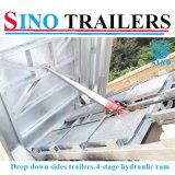 Pallets die Hydraulische Tippende Aanhangwagens inpakken