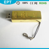 La plus nouvelle mémoire Flash Pendrive de Pen Drive 8GB 16GB Gold Bar USB 2.0 de lecteur flash USB de Design Golden