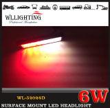 極度の薄い表面の台紙6 LEDの警告のストロボヘッドライト