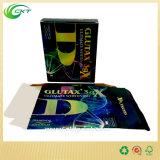 Cadre de empaquetage de produit avec le clinquant d'or, cartons de pliage (CKT-CB-427)