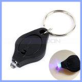 395nm purpurrote helle UVschlüsselkette der taschenlampen-LED (UK001)