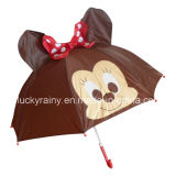 Cartoon Printing를 가진 똑바른 Animal Ear Design Auo Open Umbrella