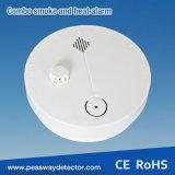 Humo de la combinación de Peasway 9V y alarma con pilas del calor (PW-560SH)