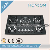Bas-de-ligne Iron Built dans Gas Stove Glass Gas Hobs Gas Range