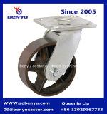 1 Tonne Schwer-Aufgabe Casters Cast Iron Wheels mit Brake
