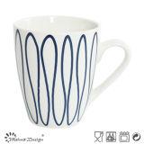 taza de la porcelana 12oz con el diseño creativo de Goemetrical de la etiqueta azul