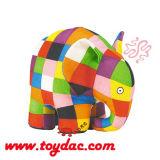Giocattolo farcito del panno dell'elefante di colore