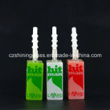 Narguilé en verre de plates-formes pétrolières de conduites d'eau de forme de boîte à yaourt de bruit pour le fumage
