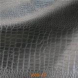 Piel artificial cerosa del petróleo para los muebles Stocklot (1609#) del sofá