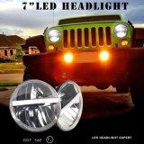 """J226 7 """" i fari della guarnizione di 20W LED con DRL H4 H13 misura il Hummer Harley della jeep"""