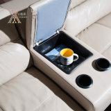 Sofá de couro da sala de visitas ajustado com armazenagem do espaço (826)