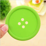 Café Cup Mat de Insulation Button Shape Silicone del calor