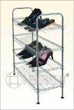 현대 가구 DIY는 조정가능한 금속 와이어 단화 선반을 아래로 두드린다