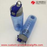 bouteille en plastique du PC 750ml clair respectueux de l'environnement avec l'échelle
