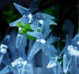 Stelle marine dell'indicatore luminoso della stringa di energia solare 20-LED per l'Nuovo-Anno Lh-Ss19 di cerimonia nuziale di natale