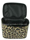 Coperchio dell'unità di elaborazione del leopardo di Animalier con il sacchetto dell'estetica dell'articolo da toeletta di corsa del PVC