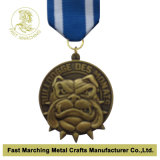 Gold antico Medallion con un Cord, Hot Sale Award Souvenir Medal