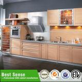 最もよい感覚現代PVC木製の食器棚
