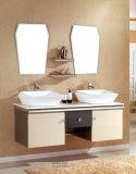 Cabina de cerámica de la vanidad del cuarto de baño del acero inoxidable del lavabo del modelo azul de la gotita