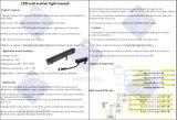 Luz ao ar livre importada IP65 elevada da arruela da parede do diodo emissor de luz da microplaqueta do brilho de Bridge/Building