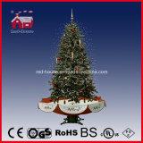 2016년 크리스마스 훈장 현대 인공적인 눈이 내리는 크리스마스 나무