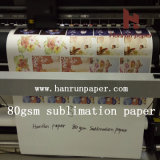 Konkurrierendes Price 70/80GSM Sublimation Heat Transfer Paper Roll Size