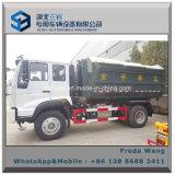 Sinotruk 4*2 caminhão de lixo do recipiente do elevador do gancho de 10 toneladas